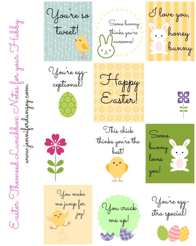 picture relating to Free Printable Lunchbox Notes for Husband identify Easter Lunchbox Notes for Your HubbyA Free of charge Printable